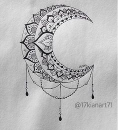 B&W Moon Mandala Design # Mandala Tattoo Mandala Tattoo Design, Dotwork Tattoo Mandala, Geometric Tattoo Design, Tattoo Designs, Geometric Designs, Tattoo Drawings, Body Art Tattoos, New Tattoos, Sleeve Tattoos