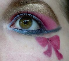 Sailor Chibi Chibi Moon inspired make up by http://annarrrr.blogspot.de/2013/06/make-up-dreamz-runde-11-sailor-chibi.html
