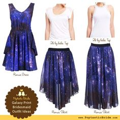 How to rock the galaxy print trend at your wedding: outfit and decor ideas and DIY tutorials