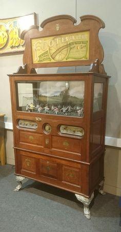 Football Arcade Machine, Slot Machine, Pinball, Arcade Console, Antique Toys, Vintage Antiques, Bored Games, Penny Arcade, Vintage Board Games
