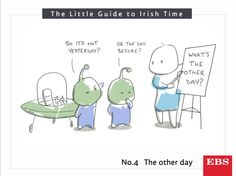 If aliens came to visit and we had to explain our Irishisms to them, no doubt 'the other day' would baffle them. Irish Times, Aliens, Day