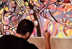 Cores e traços marcantes do artista brasileiro JP