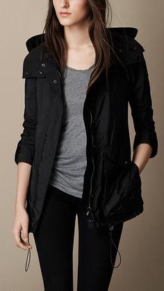 Black Peaked Hood Jacket - Image 1