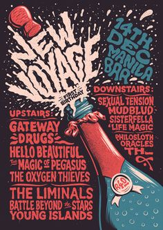 New Voyage First Birthday in Typography -- Event Poster Design Inspiration, Examples & Templates Event Poster Design, Poster Design Inspiration, Typography Inspiration, Typography Design, Daily Inspiration, Typography Ads, Poster Designs, Creative Inspiration, Grid Design