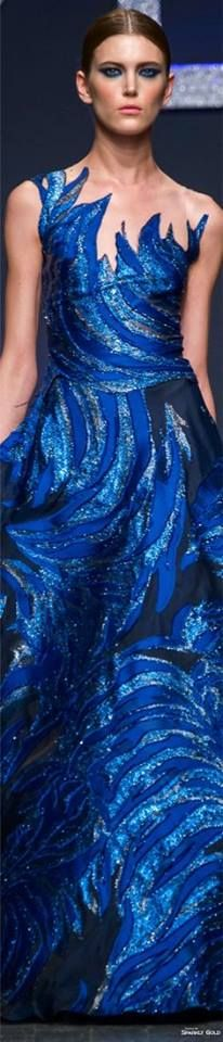 Blue Fashion, Runway Fashion, Fashion 2016, High Class Fashion, Blue Dresses, Formal Dresses, Blue Gown, Classy And Fabulous, Absolutely Fabulous