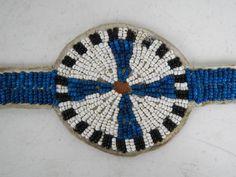 Mandan Buffalo Blanket Strip  detail 1880's