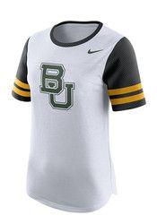 Nike Baylor Bears Womens Gear Up Modern White T-Shirt