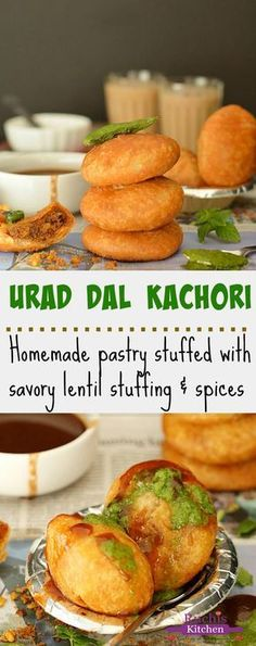 Crispy, flaky and delicious Urad Dal Kachori is my all time favorite snack. An irresistible and yummy snack filled with savory lentil stuffing and spices. And yes, it's Vegan! - Urad Dal Kachori, Khasta Kachori, Urad Dal ki khasta Kachori with pictures Veg Recipes, Indian Food Recipes, Vegetarian Recipes, Cooking Recipes, Urad Dal Recipes, Vegetarian Biryani, Cooking Tips, Chicken Recipes, Indian Appetizers