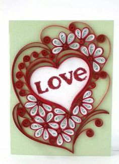 256 Best Quilling Valentine Images On Pinterest Paper Envelopes