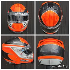 Fresh paint for Dylan Bell. Bell K1 sport with molded wing and vents deleted. This lil hat came out awesome!!! #bkp #bkpart #helmet #bellhelmets #custompaint #helmetporn #myway #neonorange #neon #racing #motorsports #karting #kartlife #nofilter @bellracingusa @refinisherporn @houseofkolor_ by bkpart