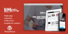 Webmakers - one page WordPress Theme . Webmakers has features such as High Resolution: No, Widget Ready: Yes, Compatible Browsers: IE8, IE9, IE10, Firefox, Safari, Opera, Chrome, Compatible With: Bootstrap 2.3.x, Software Version: WordPress 4.6.1, WordPress 4.6, WordPress 4.5.x, WordPress 4.5.2, WordPress 4.5.1, WordPress 4.5, WordPress 4.4.2, WordPress 4.4.1, WordPress 4.4, WordPress 4.3.1, WordPress 4.3, WordPress 4.2, WordPress 4.1, WordPress 4.0, WordPress 3.9, Columns: 1