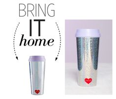 """""""Bring It Home: Ban.do Hot Stuff Holographic Foil Thermal Mug"""" by polyvore-editorial ❤ liked on Polyvore featuring interior, interiors, interior design, home, home decor, interior decorating, ban.do and bringithome"""