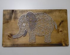 Items similar to Elephant String Art, Nursery String Art, Baby String Art, Nursery Baby String Art, Elephant Nursery on Etsy Elephant Artwork, Grey Elephant, Elephant Design, Elephant Nursery Decor, Nursery Art, Babies Nursery, String Art Templates, Nail String Art, 3d Artwork