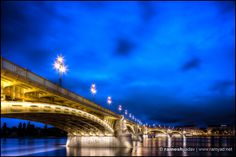 Charles Bridge at night, I noticed the effect of the street lamp lighting reflecting off the water from under Margaret Bridge. Budapest Travel, Charles Bridge, Street Lamp, Budapest Hungary, What A Wonderful World, On Set, Wonders Of The World, Travel Photography, Night
