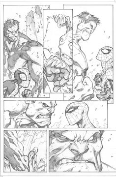 avenging spider-man #2, page 11 - joe madureira pencils / love comparing the…