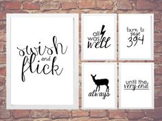 Harry Potter Quotes Pack!  Instant Download