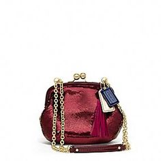 awesome little night time bag - coachPOPPY SEQUIN FRAME BAG