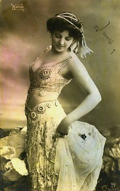 old belly dance costume