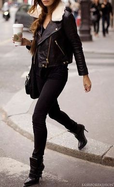 $25 Take your fall styling cues from faux fur leather jackets and team yours with skinny jeans, ankle boots and one starbucks coffee on the go.