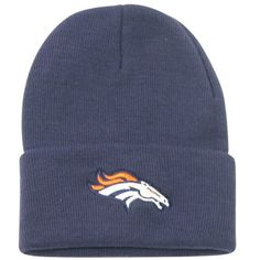 Denver Broncos Classic Cuffed Knit Winter Hat - Navy by NFL. $7.89. One size fits most ages 13+. Officially licensed NFL headwear. Show off your team spirit!. Keep your head warm during the cold winter months while showing off your team spirit with this officially licensed winter knit headwear. Makes a perfect gift item or self purchase. One size fits most ages 13+. Officially licensed. This item is fulfilled by Amazon.