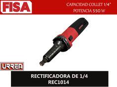 "RECTIFICADORA DE 1/4 REC1014. Capacidad collet 1/4"" Potencia 550W- FERRETERIA INDUSTRIAL -FISA S.A.S Carrera 25 # 17 - 64 Teléfono: 201 05 55 www.fisa.com.co/ Twitter:@FISA_Colombia Facebook: Ferreteria Industrial FISA Colombia"