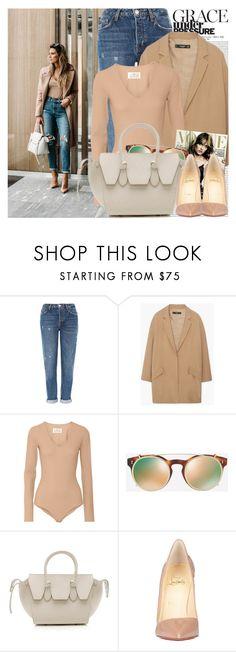 """2559. Blogger Style: Hello Fashion"" by chocolatepumma ❤ liked on Polyvore featuring Oris, Topshop, MANGO, Maison Margiela, Valentino, CÉLINE and Christian Louboutin"