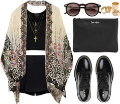 love this outfit except for the shoes.. I think a chunky wedge would be way nicer