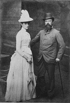 Alix of Hesse (future Czarina Alexandra) and father