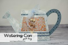 Yes!  Becki's Watering Can from MOTHERS GARDEN SVG KIT is a sight for sore eyes!   Love it when I see projects like this start popping up!  Say goodbye to Winter and hurry up Spring!    This gorgeous can is actually a wonderful gift bag!  Fill it with gardening supplies and make someone happy!