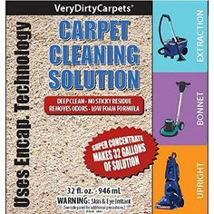 Carpet Cleaning Solution Concentrated Professional Strength Carpet Cleaner  U0026 Deodorizer For Bissell Hoover Rug Doctor Shampoo
