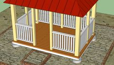 Rectangular gazebo railings plans…