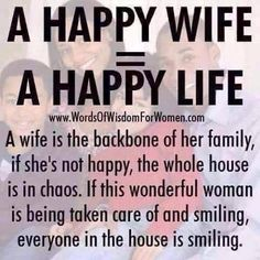 My hubby knows this so well! I'm never unhappy with him