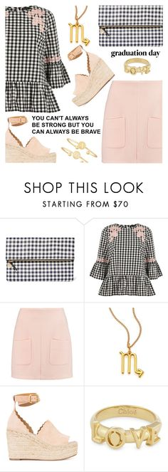 """""""Graduation Day"""" by shoaleh-nia ❤ liked on Polyvore featuring Clare V., River Island, See by Chloé, Chloé and Sarah Chloe"""