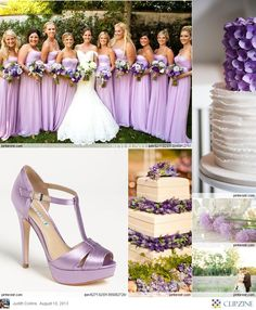 Lavender Weddings. I love the bridesmaid dresses!