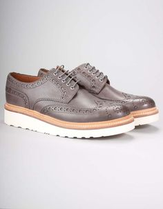 25616061af79 Grenson Anthracite Archie Calf Brogues