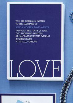 Custom Photo Invitation: LOVE