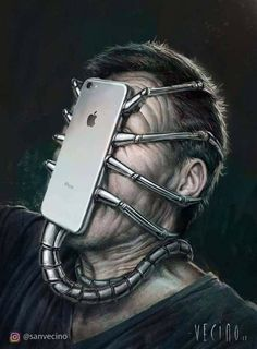 Surreal Illustrations That Depict The Horrible Truth About The Downfall Of Modern Society Social Media Art, Satirical Illustrations, Wow Art, Art Plastique, Surreal Art, Fantasy Art, Art Drawings, Street Art, Weird