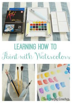 I've always wanted to try this!! Learning How To Watercolor via www.twopurplecouches.com #watercolorarts