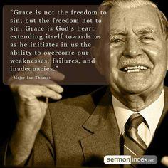 christian quotes | Major Ian Thomas quotes | grace