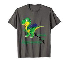 Roaring Kindergarten Dinosaur T-Rex Back to School Shirt Boy T Rex, Branded T Shirts, Back To School, Fashion Brands, Kindergarten, Boys, Mens Tops, Stuff To Buy, Women