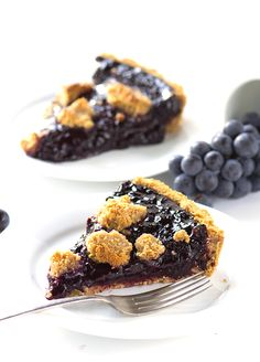 Concord Grape Tart with a Peanut Butter Cookie Crust and Crumb.
