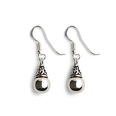 """Bliss Earrings - Sterling silver orbs add a polished flash of style, suspended from a spire of antiqued filigree. French wires. 1.25L"""". Made in Bali. https://www.morinda.com/3764125/en-us/shop/3795999#"""