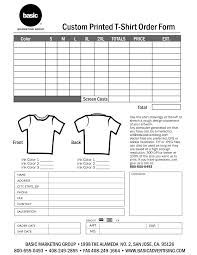 tshirt order form - Google Search