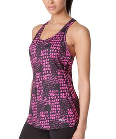 Love this FILA Pink & Black Abstract Loose-Fit Tank by FILA on #zulily! #zulilyfinds