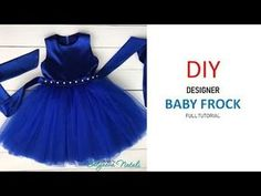 Diy Designer Baby Frock Cutting And Stitching Full Tutorial Baby Frock Pattern, Frock Patterns, Baby Dress Patterns, Girls Dresses Sewing, Dresses Kids Girl, Kids Outfits, Dress Sewing, Baby Girl Birthday Dress, Baby Girl Party Dresses
