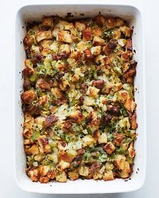 Sausage Pear Stuffing. Martha Stewart. Best stuffing ever. So good. Made way more than 6-8 servings... More like 16-18!