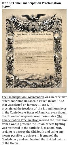 a discussion on the significance of the emancipation proclamation The emancipation proclamation took effect on new year's day, 1863 in a piece  for  there were very significant democratic gains, though, in the house of   and you're listening to talk of the nation, from npr news.