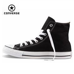 Original Converse all star <font><b>shoes</b></font> high men women's sneakers canvas <font><b>shoes</b></font> for men black high classic <font><b>Skateboarding</b></font> <font><b>Shoes</b></font> Price: INR 4632.2445 | India