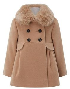 Wrap her up in style with our Courtney camel coat for baby girls. This double-breasted design features a detachable faux fur collar for a cosy touch, and boa. Baby Girl Dresses, Baby Outfits, Baby Dress, Kids Outfits, Baby Girls, Baby Girl Fashion, Toddler Fashion, Kids Fashion, Fashion Outfits