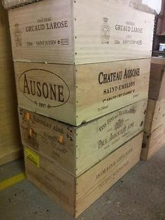 DOUBLE SIDED LARGE FRENCH WOODEN WINE CRATE / BOX CHRISTMAS HAMPER STORAGE Alton can collect and choose £15 each Planters for garden  Shelves for boys room Book shelves Shoe storage hallway?